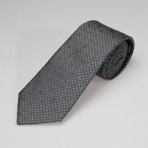 Галстук мужской (Серый Геометрический;Логотип) Valentino