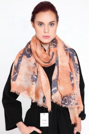 Оранжевый палантин Sophie Ramage Италия