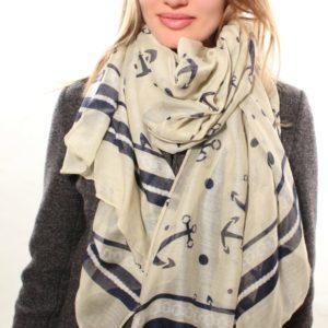 Палантин женский (Белый цвет) Sophie Ramage