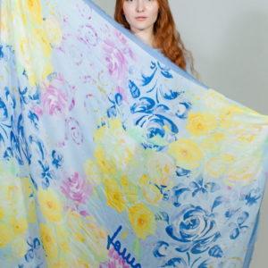 Платок женский (Голубой) Laura Biagiotti
