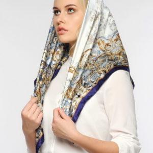 Женский платок (Голубой Абстракция цвет) Paccia