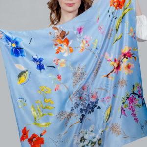 Платок женский (Голубой цвет) Paccia