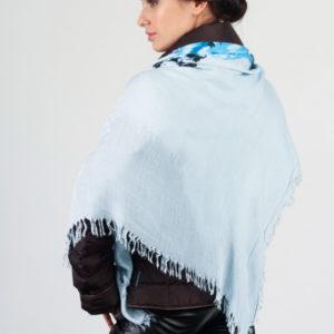 Женский платок (Голубой Цветочный) Laura Milano