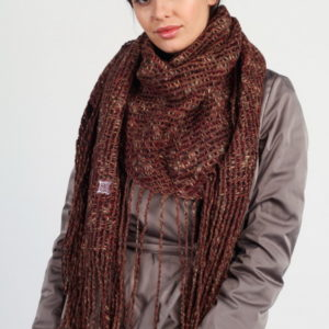 Женский платок (Коричневый) Laura Milano