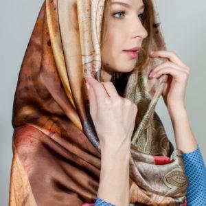 Платок женский (Коричневый) Laura Biagiotti