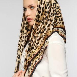 Женский платок (Коричневый Животный цвет) Paccia