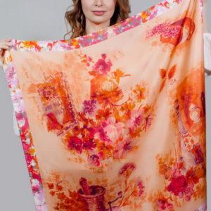Платок женский (Оранжевый) Mila Schon