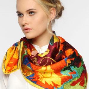 Женский платок (Разноцветный Абстракция цвет) Paccia