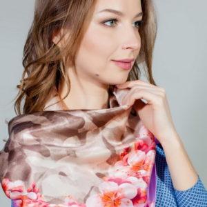 Платок женский (Розовый) Mila Schon
