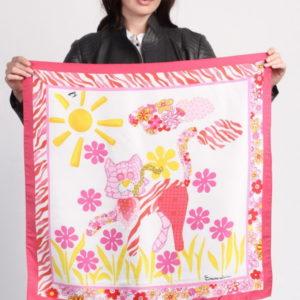 Платок женский (Розовый Цветочный) Braccialini