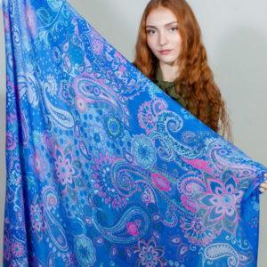 Платок женский (Синий) Laura Biagiotti