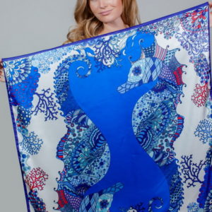 Платок женский (Синий) Mila Schon