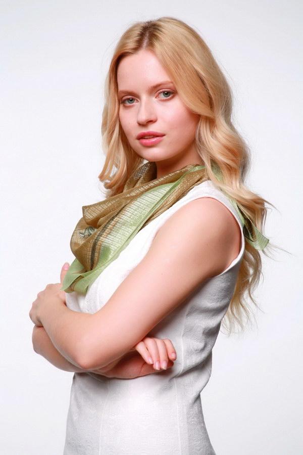 Женский платок (Зеленый Цветочный) Ramita
