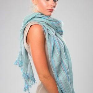 Шарф для женщин (Голубой Полоска) Gianfranco Ferre