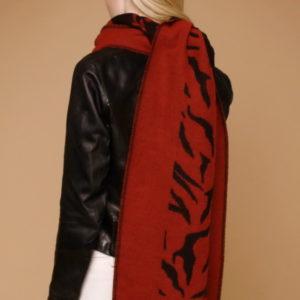 Шарф для женщин (Красный Животный) Pierre Cardin