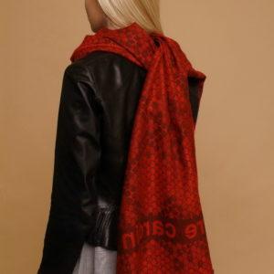 Шарф для женщин (Красный Животный;Логотип) Pierre Cardin
