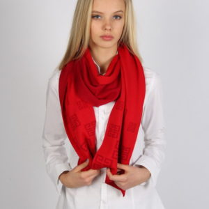 Шарф для женщин; Унисекс (Красный Логотип) Givenchy