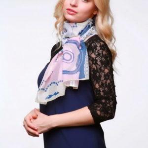 Шарф для женщин (Розовый Абстракция;Цветочный) Donatella