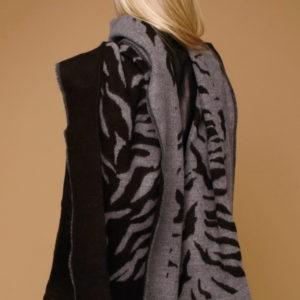 Шарф для женщин (Серый Животный) Pierre Cardin