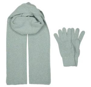 Комплект шарф и перчатки  Бирюзовый