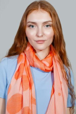 Палантин женский  Оранжевый