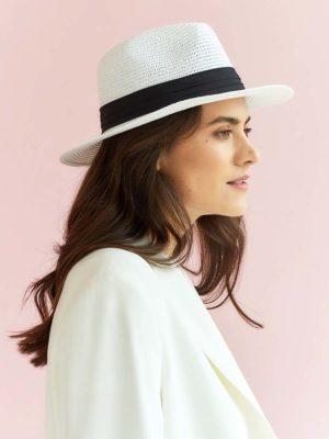 Женская летняя белая шляпа