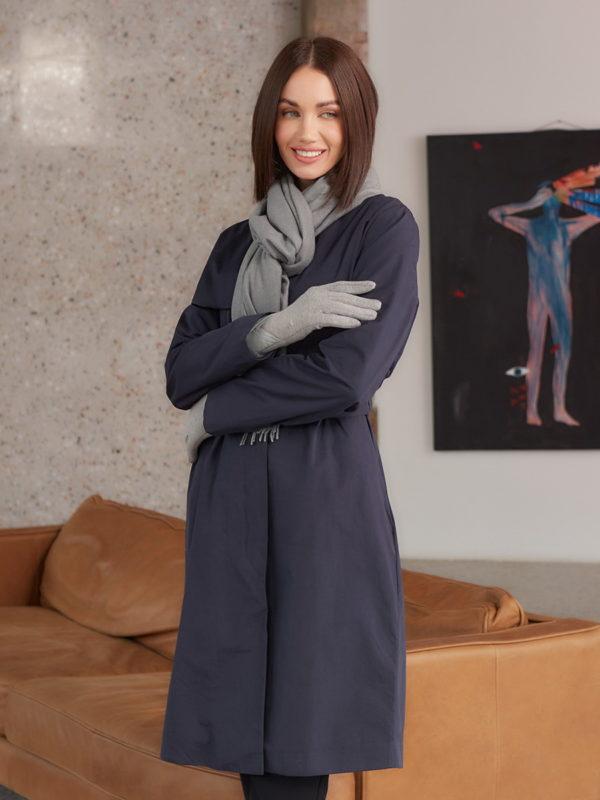Теплый серый шарф